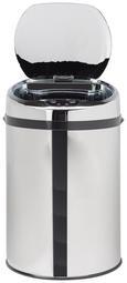 Echtwerk Abfalleimer 9 Liter mit Infrarotsensor - Edelstahlfarben/Schwarz, KONVENTIONELL, Kunststoff/Metall (24,5/37,5cm) - Echtwerk