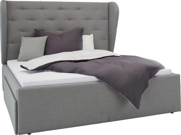 Polsterbett Grau 180x200cm - Hellgrau, LIFESTYLE, Textil (180/200cm) - PREMIUM LIVING