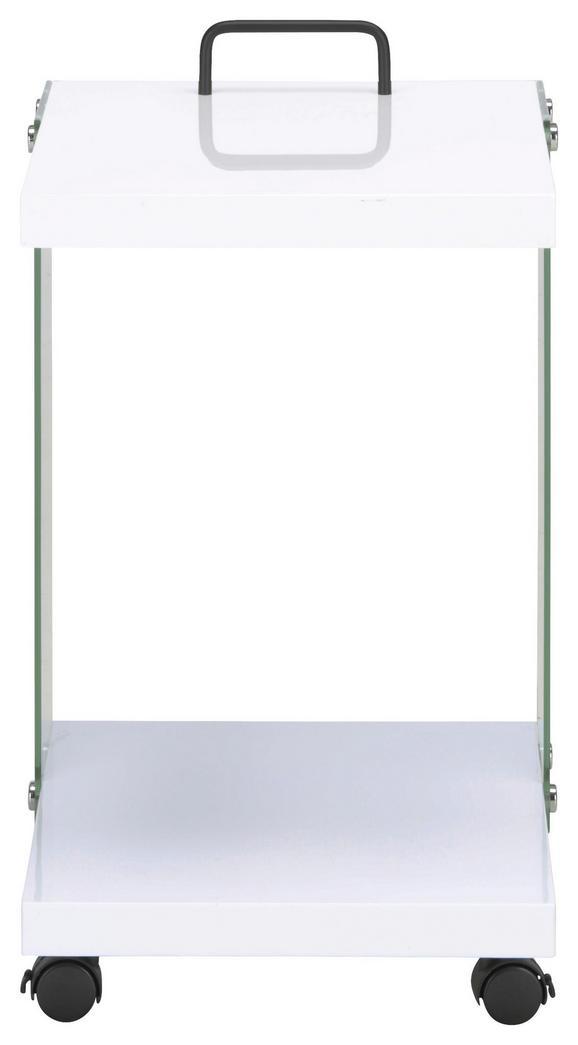 Beistelltisch in Weiß - Klar/Schwarz, MODERN, Glas/Holzwerkstoff (36/55/40cm) - Mömax modern living