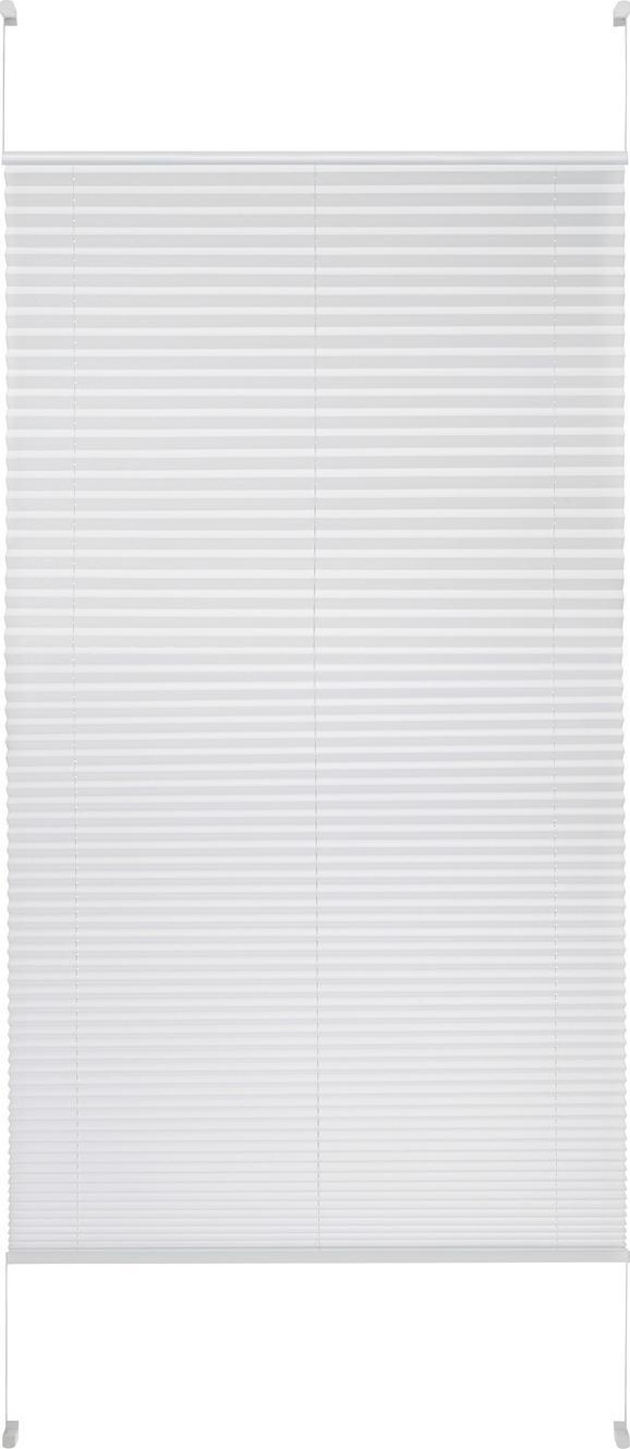 Plissee Free in Weiß, ca. 90x210cm - Weiß, Textil (90/210cm) - PREMIUM LIVING
