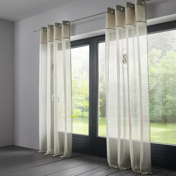 Vorhang in Natur ca. 140x245cm 'Emily' - Naturfarben, KONVENTIONELL, Textil (140/245cm) - Bessagi Home