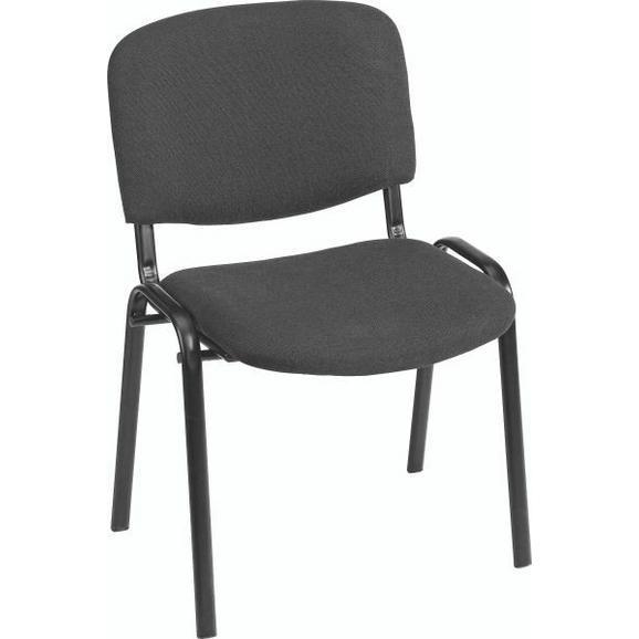 Vendégszék Fekete Párnázott Dina - Fekete, Fém/Textil (55/83/53,5cm) - Mömax modern living