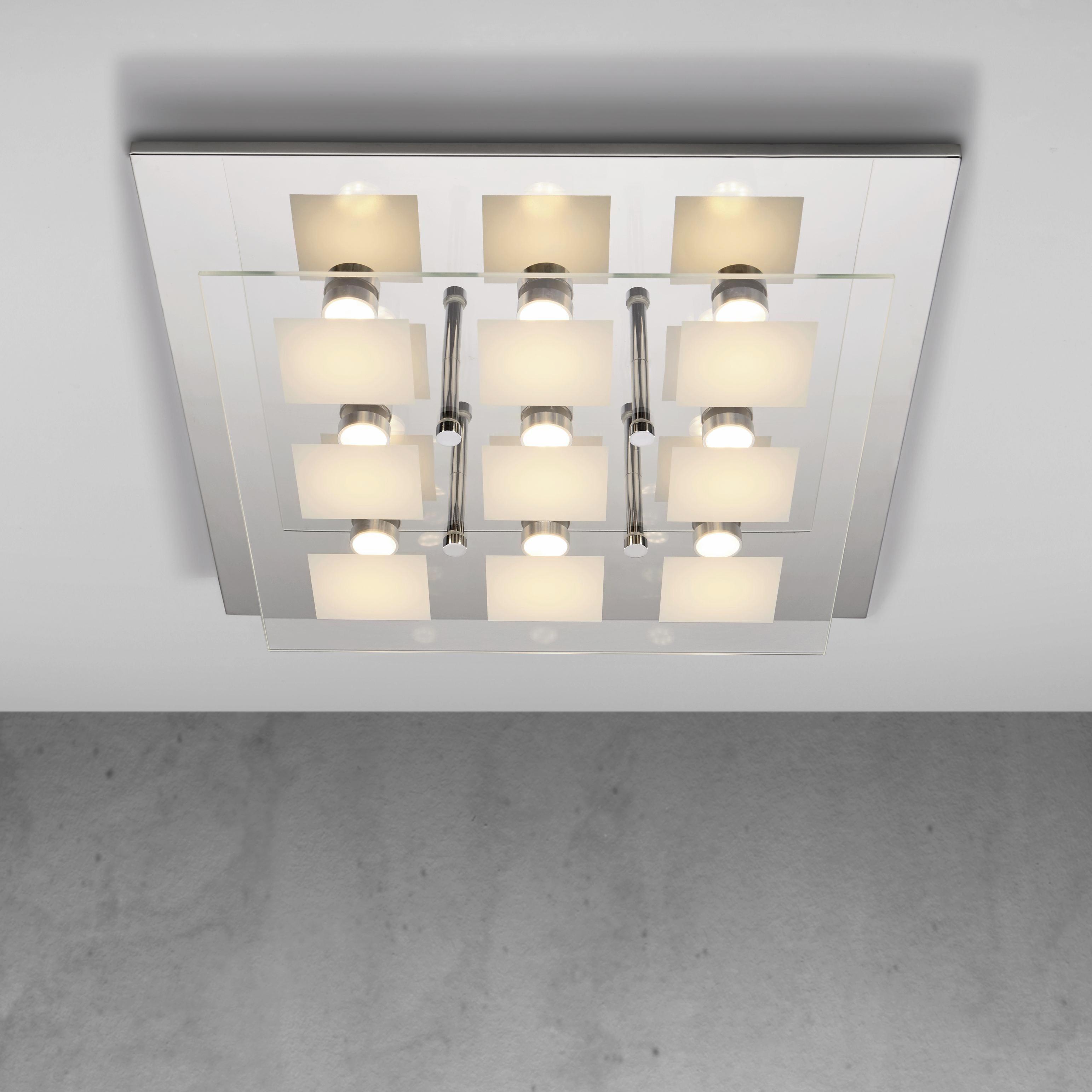 LED-Deckenleuchte Louna - Chromfarben, MODERN, Glas/Kunststoff (48/8cm) - MÖMAX modern living