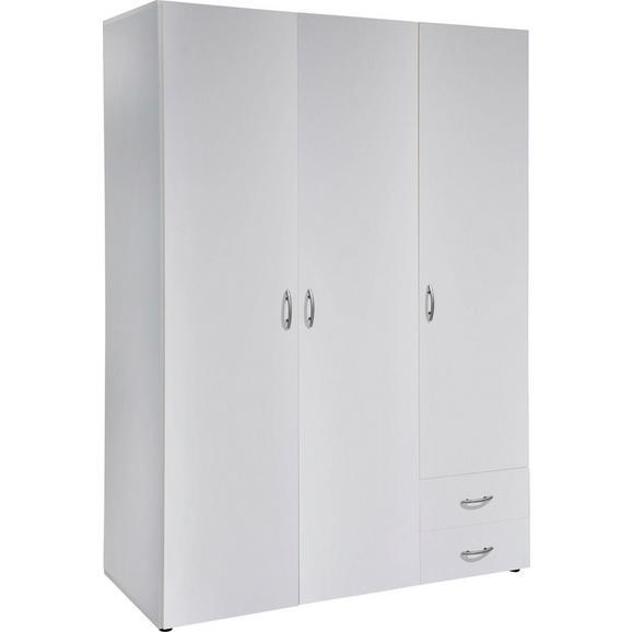 Omara S Klasičnimi Vrati Base 3 - oreh/srebrna, Konvencionalno, umetna masa/leseni material (120,7/176/51,1cm) - Mömax modern living