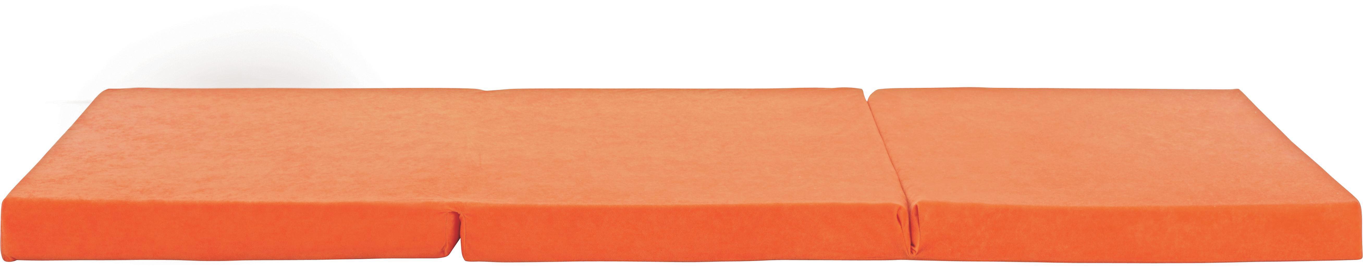 Összecsukható Matrac Anna - narancs, textil (65/185cm)