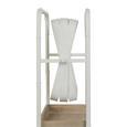 Cuier De Perete Camilla - alb/culoare natur, Romantik / Landhaus, sticlă/compozit lemnos (48/150/20,5cm) - Modern Living