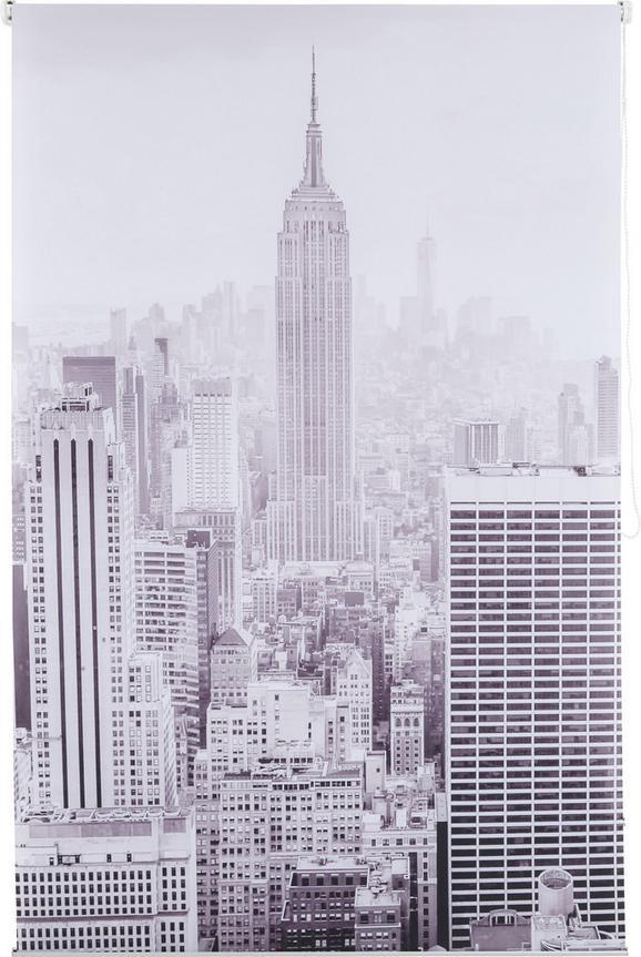 Klemmrollo Fotoprint, ca. 120x170cm - Weiß/Grau, MODERN, Textil (120/170cm) - MÖMAX modern living