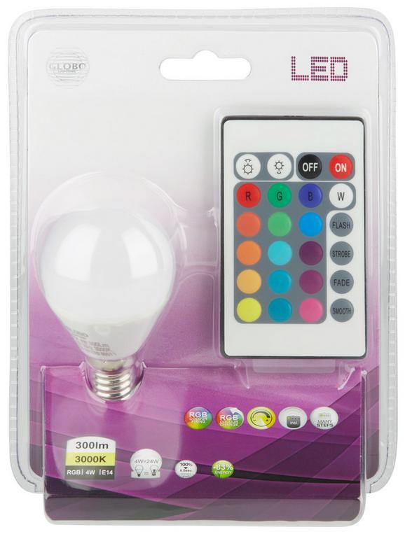 LED-Leuchtmittel 106750, max. 4 Watt - Weiß, Kunststoff/Metall (4,5/7,7cm)