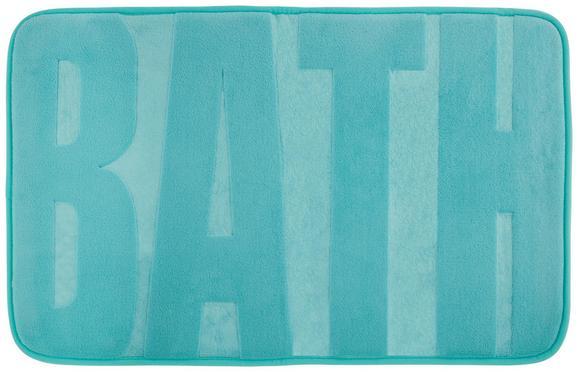 Badematte Bath ca. 50x80cm - Türkis/Schwarz, Textil (50/80cm) - MÖMAX modern living