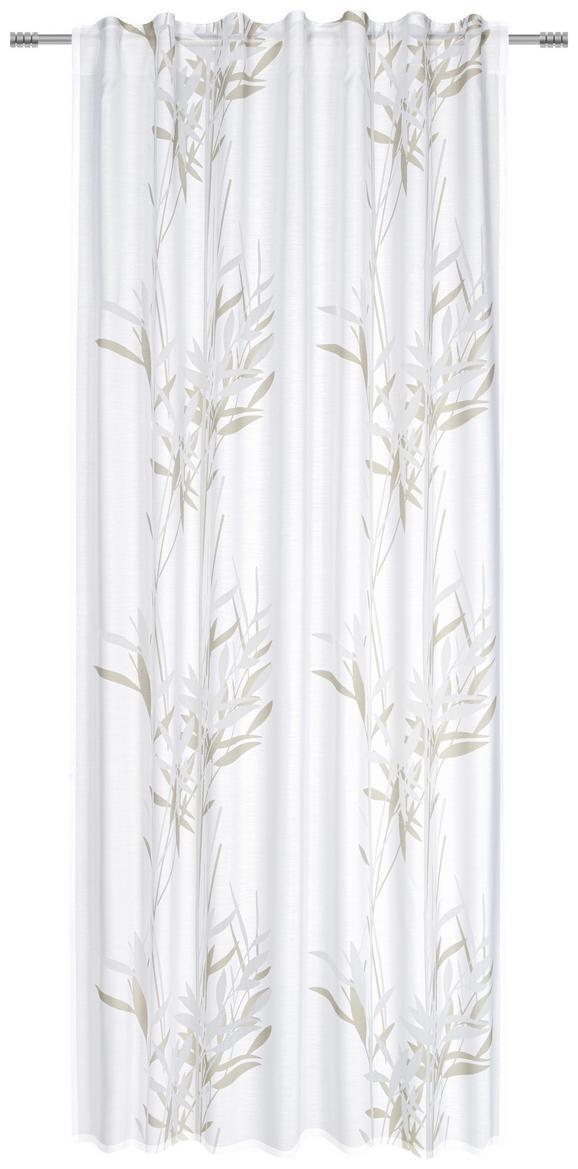 Schlaufenvorhang Gräser, ca. 135x245cm - Grau, MODERN, Textil (135/245cm) - Mömax modern living