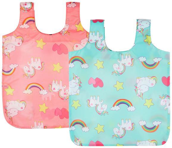 Nakupovalna Torba Unicorn - roza/meta zelena, tekstil (55/45cm)
