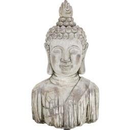 Buddha aus Stein - Braun, KONVENTIONELL, Stein (21,5/13/37cm) - Mömax modern living