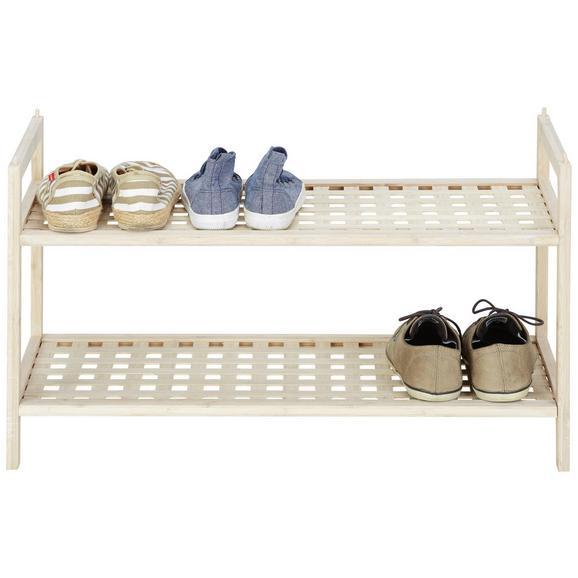 Schuhregal aus Bambus - Naturfarben, MODERN, Holz (69/40/28cm) - Modern Living