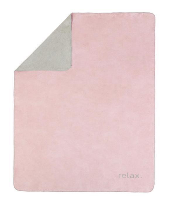 Kuscheldecke Relax in Rosa/hellgrau - Hellgrau/Rosa, KONVENTIONELL, Textil (150/200cm) - PREMIUM LIVING