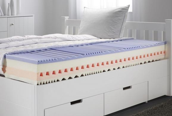 Wendematratze Kaltschaum 120x200 cm - Weiß, Textil (120/200cm) - Nadana