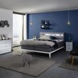 Boxspringbett in Grau ca. 180x200cm - Weiß/Grau, KONVENTIONELL, Holz/Textil (180/200cm) - Premium Living