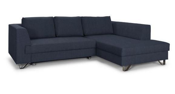 Sedežna Garnitura Mohito - srebrna/temno modra, Moderno, kovina/tekstil (280/196cm)