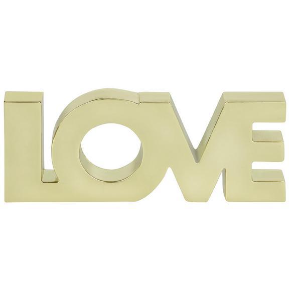 Dekor Felirat Love - Arany, Lifestyle, Fém (12,7/4,93/1,42cm)
