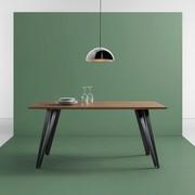 Esstisch Gino 160x90cm   Schwarz/Naturfarben, MODERN, Holz/Metall (160/