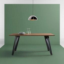 Esstisch Gino 160x90cm - Schwarz/Naturfarben, MODERN, Holz/Metall (160/90/76cm) - Modern Living