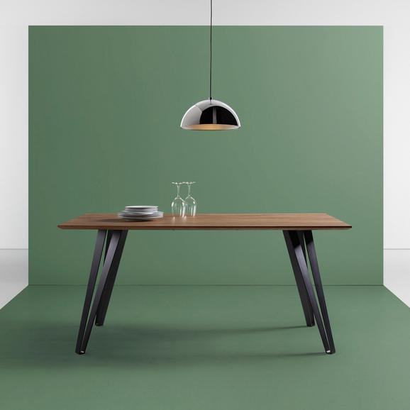 Esstisch Gino 160x90cm - Schwarz/Naturfarben, MODERN, Holz/Metall (160/90/76cm) - Mömax modern living