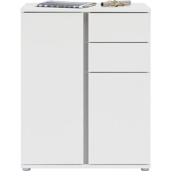 Komoda Bianco - aluminij/bela, Moderno, umetna masa/leseni material (75/95/43cm) - Mömax modern living