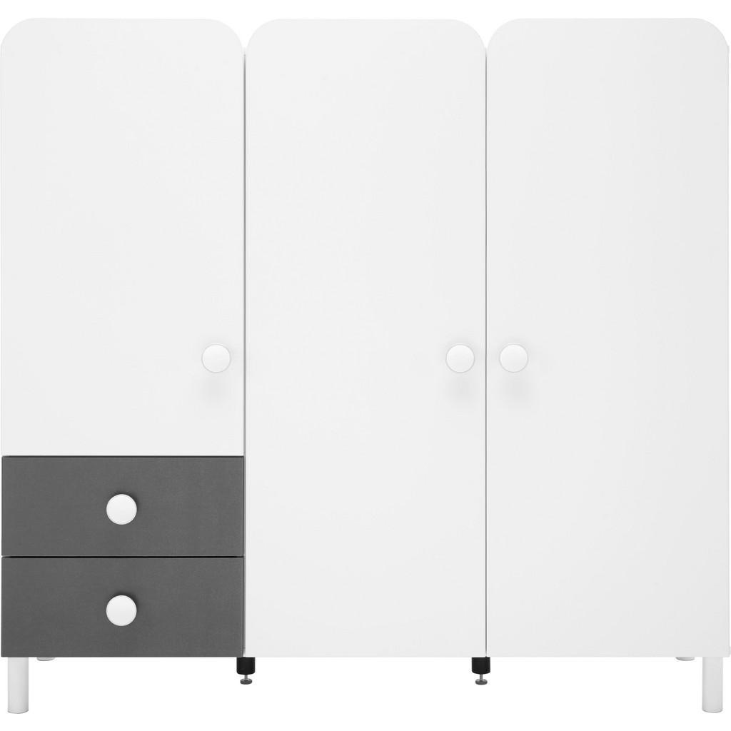 Kommode Grau/Weiß