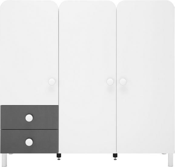 Kommode in Grau/Weiß - Alufarben, KONVENTIONELL, Holzwerkstoff/Kunststoff (140/133/41cm) - MODERN LIVING