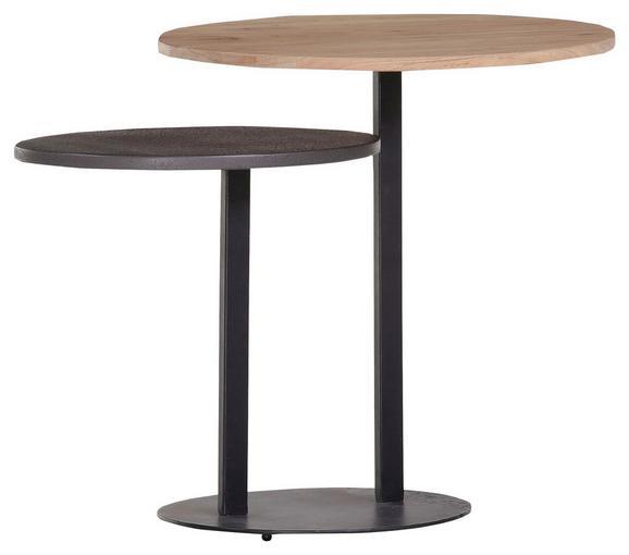 Mizica Firestone - naravna/črna, Moderno, kovina/les (68/52/40cm) - Mömax modern living