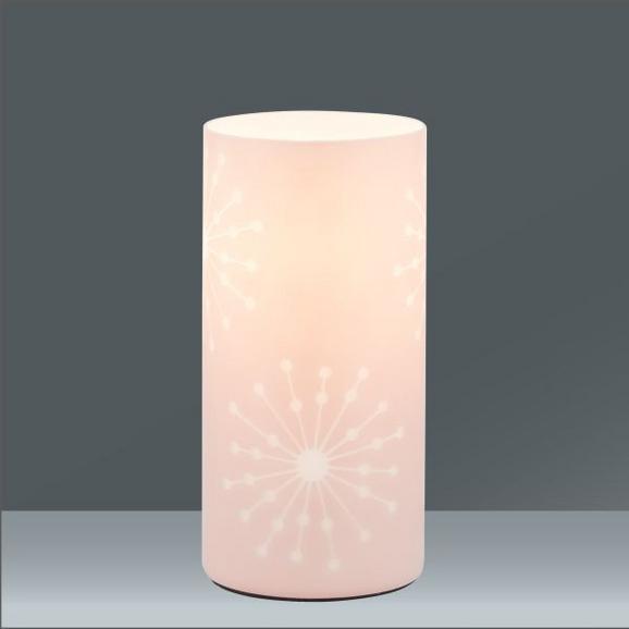 Tischleuchte Pia, max. 60 Watt - Rosa, ROMANTIK / LANDHAUS, Glas/Metall (10/20cm) - MÖMAX modern living