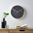 Uhr Priya ca.ø30,4cm - Schwarz, MODERN, Glas/Kunststoff (30,4cm) - Mömax modern living