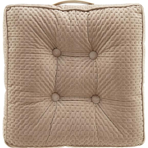 Sitzkissen Miley Beige ca. 45x45cm - Beige, MODERN, Textil (45/45/8cm) - Bessagi Home