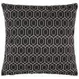 Zierkissen Honeycomb ca. 45x45cm - Schwarz, MODERN, Textil (45/45cm) - Mömax modern living