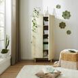 Schrank aus Mangoholz massiv - Naturfarben, ROMANTIK / LANDHAUS, Holz (70/140/40cm) - Zandiara
