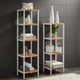 Regal aus Bambus - Naturfarben/Weiß, MODERN, Holz/Holzwerkstoff (34/110/30cm) - Mömax modern living