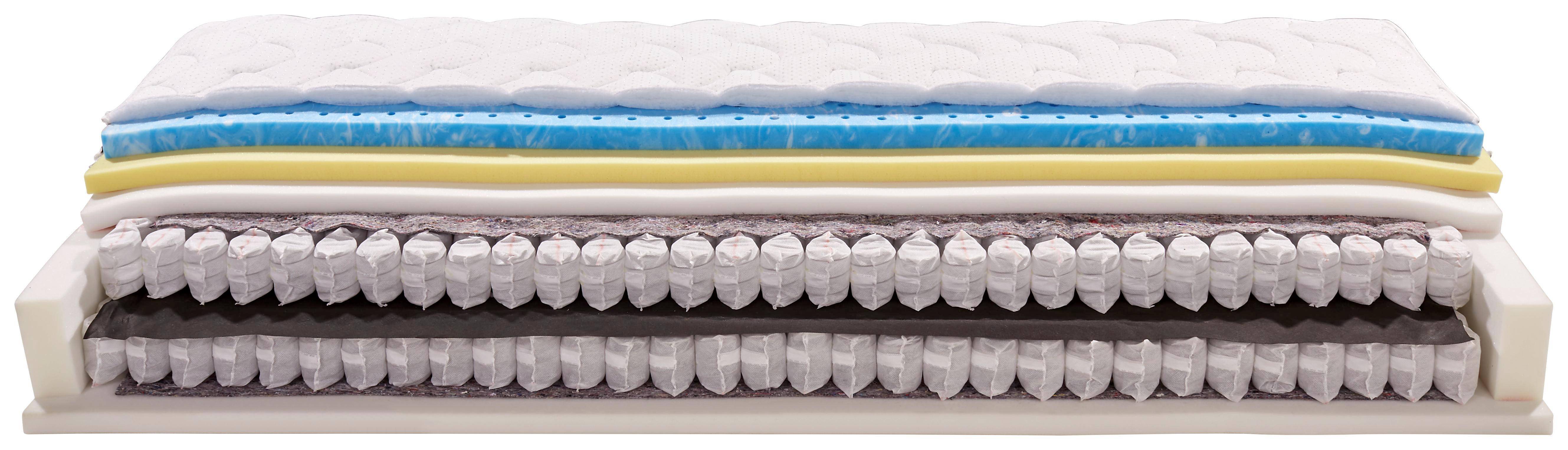 Boxspring Matrac Lombardia - fehér, textil (90/200cm)