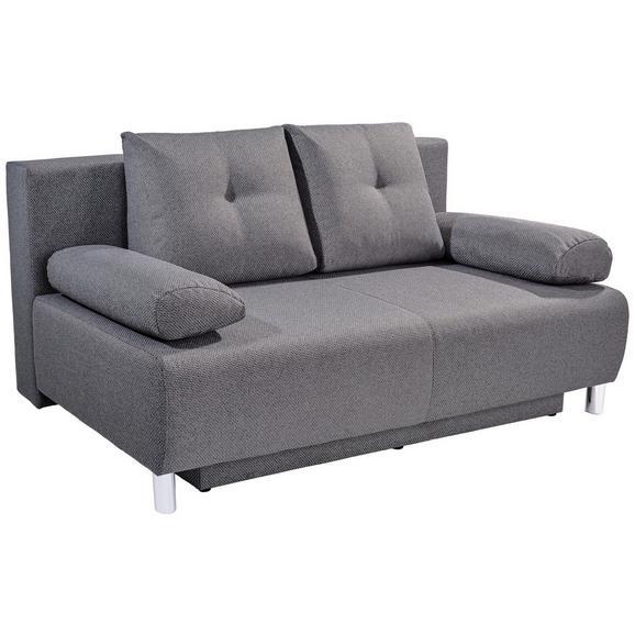 Zofa Boxspring Ines - krom/srebrna, Moderno, umetna masa/tekstil (203/96/102cm) - Mömax modern living