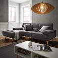 Wohnlandschaft Sandra - Dunkelgrau, MODERN, Holz/Textil (155/246cm) - Modern Living