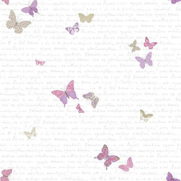 Tapéta Pritty Lili - Bézs/Ibolya, Papír (53/1005cm)