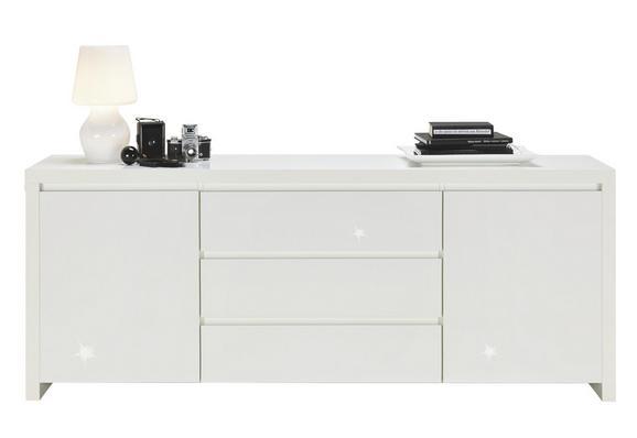Sideboard Weiß Hochglanz - Weiß, MODERN, Holzwerkstoff (190/75/40cm) - Mömax modern living