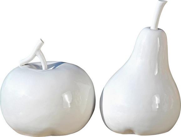 Okrasni Sadež Fruits - bela, Konvencionalno, keramika (21/28cm)
