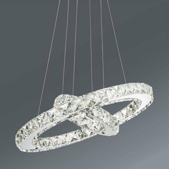 Viseča Led-svetilka Forli -eö- - krom, Moderno, kovina/umetna masa (40/150cm) - Mömax modern living