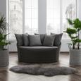 Loungesofa Tropical - Grau, MODERN, Kunststoff/Textil (140/75/80cm) - Bessagi Garden