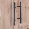 Sideboard in Naturfarben - Schwarz/Naturfarben, ROMANTIK / LANDHAUS, Holz/Holzwerkstoff (128/60,3/33,6cm) - Zandiara