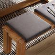 Klemmkissen Aruba in Grau ca. 45x08x45cm - Grau, Textil (45/08/45cm) - Zandiara