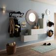 Wanduhr Ivy, D: ca. 45,5cm - Schwarz/Weiß, ROMANTIK / LANDHAUS, Glas/Kunststoff (45.5cm) - Mömax modern living