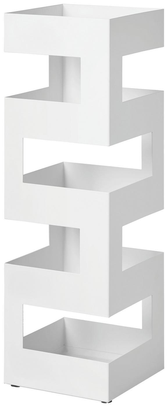 Schirmständer Weiß - Weiß, Metall (16/48/16cm) - Mömax modern living