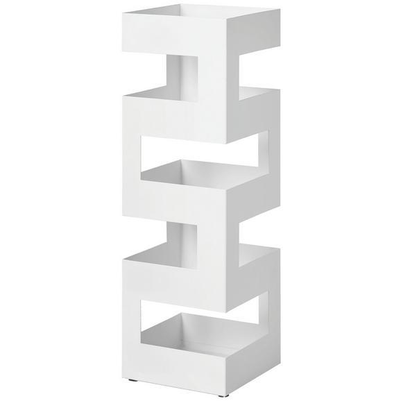 Stojalo Za Dežnike Pop 5 - bela, Moderno, kovina (16/48/16cm)