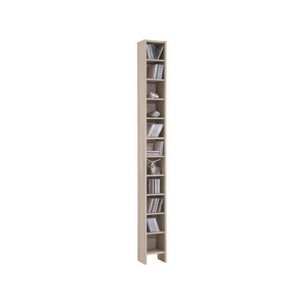 CD-Regal in Eiche - Eichefarben, Holz/Holzwerkstoff (20/185/17cm) - MÖMAX modern living