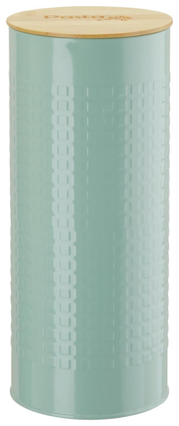 Vorratsdose Stella Mintgrün - Naturfarben/Mintgrün, ROMANTIK / LANDHAUS, Holz/Metall (11/27/cm) - Zandiara
